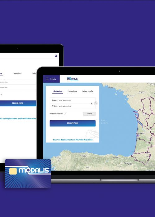 Carte et calculateur d'itinéraire Modalis